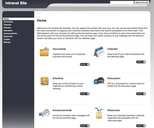 10 handy web templates from google sites practical ecommerce intranet site template maxwellsz
