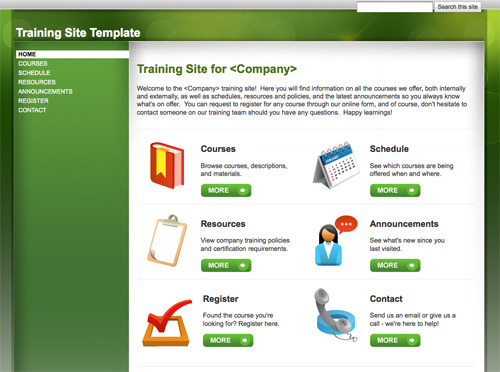 Training Site Template.