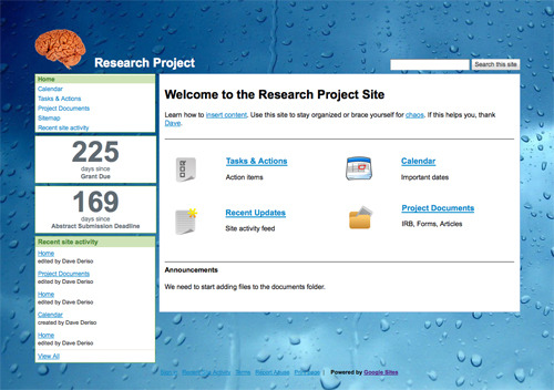 Research Project Template.