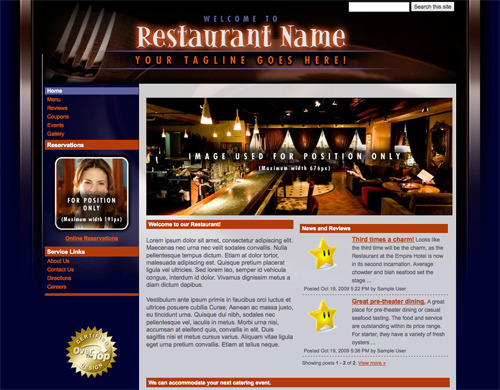 Restaurant Site Template.