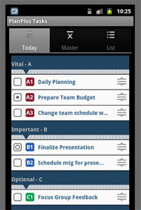 PlanPlus Tasks screenshot.