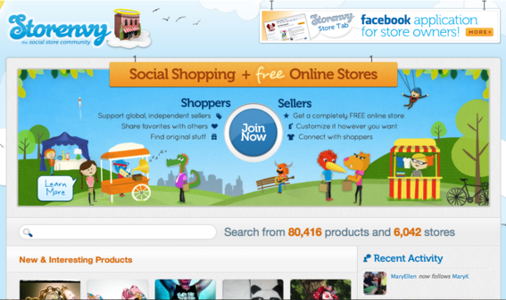 Merchants can create an online store free of charge using Storenvy.