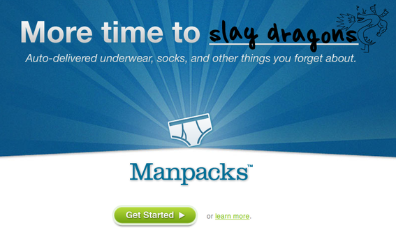 Manpacks.com sells male clothing items via subscriptions.