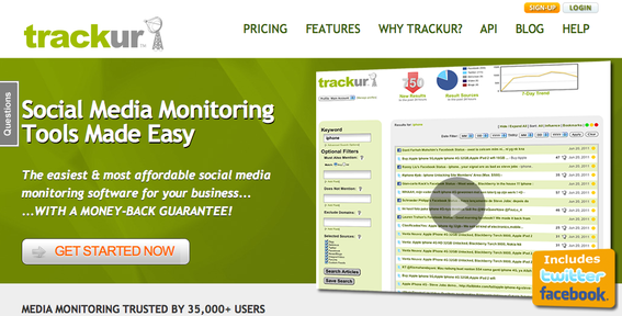 Trackur — and similar services — can help identify relevant social networking sites.
