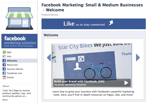 Facebook small business marketing resource.