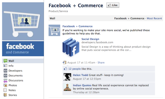 Facebook + Commerce is an educational resource for ecommerce developers and retailers.