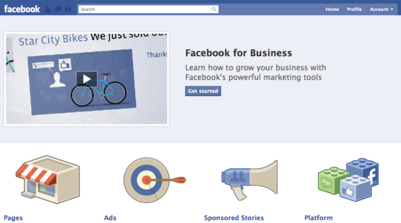Facebook for Business is a separate educational resource website.