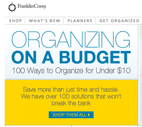 Franklin Covey used a clever tag line for its request for a click.