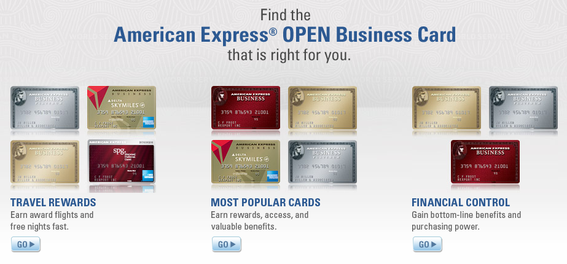"American Express offers different cards, perks and benefits in its ""Open"" business card promotion."