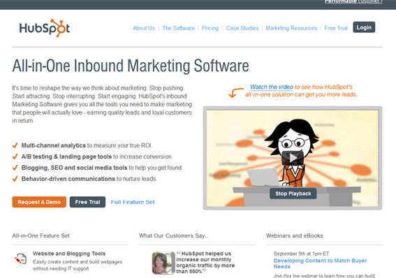 Hubspot offers a broad range of tools.