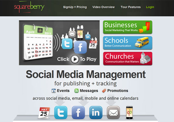 Squareberry may be thought of as a social publishing calendar tool.