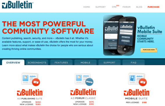 vBulletin is available for purchase via low-cost license.