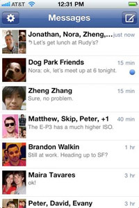 Facebook Messenger screenshot.