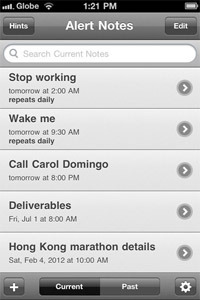 Alert Notes screenshot.