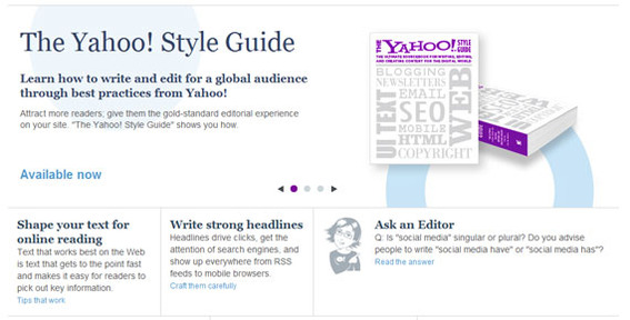 The Yahoo! Style Guide is a good choice for ecommerce businesses.