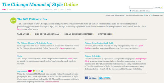 The Chicago Manual of Style may be the best choice for general online businesses.