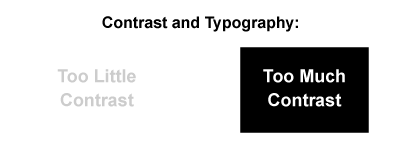 Contrast can be used to make text legible without becoming an eyesore.