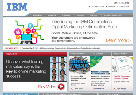IBM Coremetrics is an enterprise-level solution that offers far more than just counting site visitors.