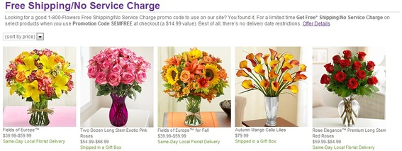1800flowers.com includes shipping costs as part of the product price.