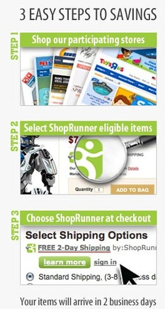 Joining a free shipping program, such as ShopRunner's, can encourage repeat customers.