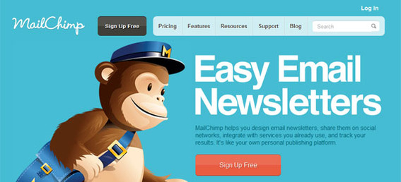 MailChimp's site makes very clear what visitors can do.
