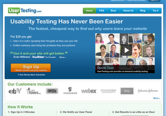 UserTesting.com helps determine how customers interact with a website and, thereby, helps to improve sales.