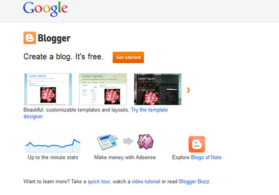 Blogger is Google's free, hosted blogging platform.