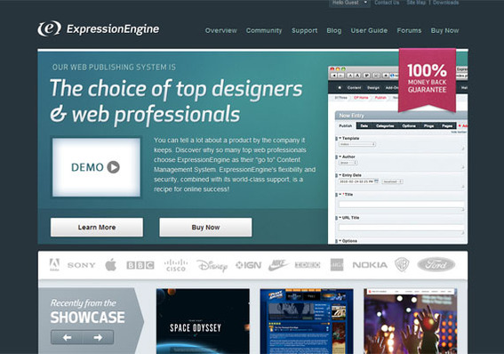 Expression Engine works will with ecommerce platforms like Magento.