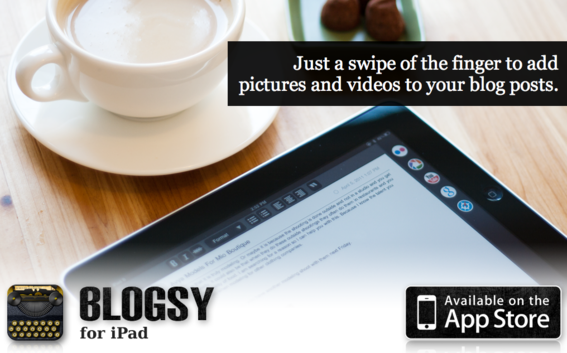 Blogsy is a blogging app designed specifically for iPad.