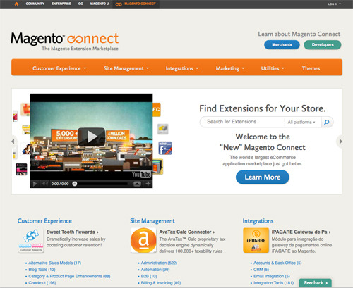 Magento Connect.