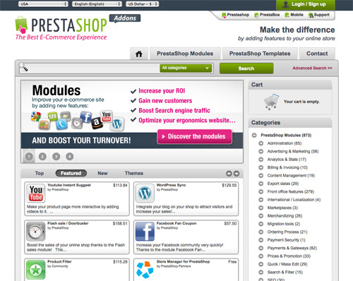 PrestaShop Add-Ons.