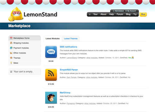 LemonStand Marketplace.