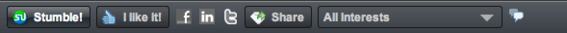 StumbleUpon provides a toolbar for most web browsers.