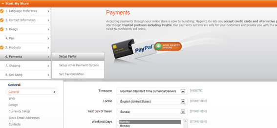 Magento Go PayPal integration makes it easy to take orders.