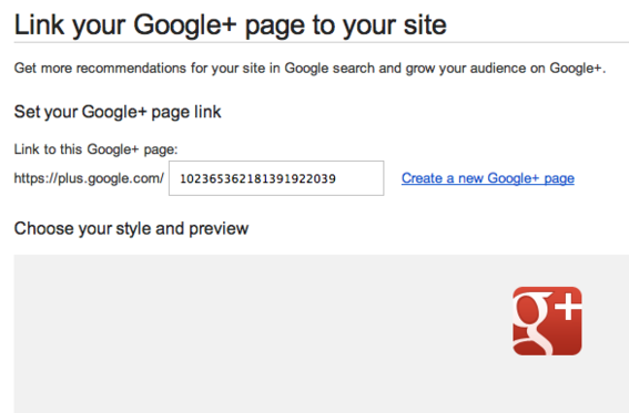 Add a Google+ badge to your website to increase visibility.