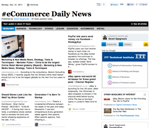 Sarah Spagnuolo's paper shares news of interest to ecommerce merchants.