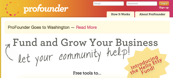 "Profunder's home page now reads, ""Profunder goes to Washington."" California authorities have halted the company's funding activities."