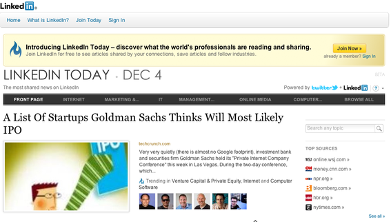 """LinkedIn Today"" can help merchants track news related to their businesses."