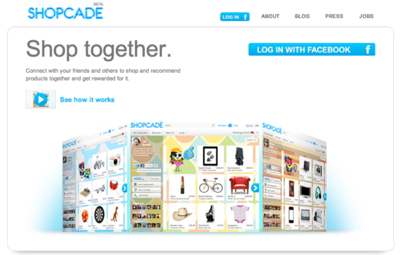 Shopcade is a personalized Facebook social shopping application.