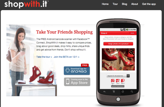 ShopWithIt is a mobile shopping application.