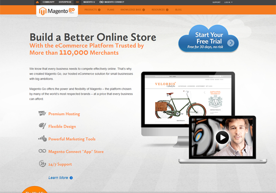 Magento Go relies on the success of the Magento licensed solutions and on eBay, its parent company.