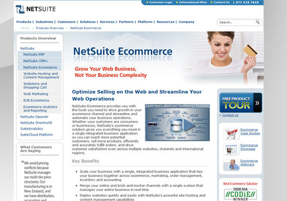 NetSuite offers a full-set of SaaS business solutions.