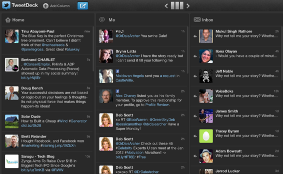 Twitter owned app Tweetdeck has undergone a similar redesign.