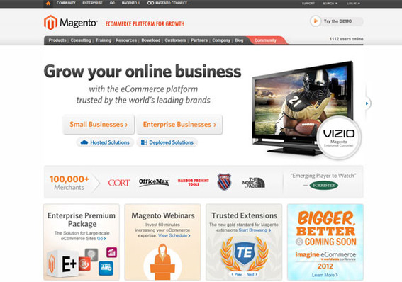 With more than 100,000 merchants on its platform, Magento is one of the most popular ecommerce solutions.