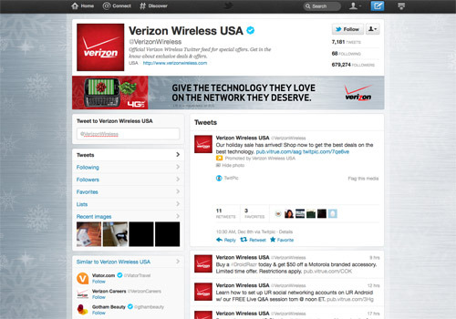 Verizon Communications Wireless.