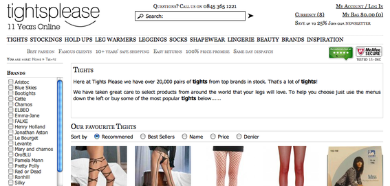 "Spelling ""Tights"" as ""Tihgts"" on the product detail page harmed that product's conversion rate."