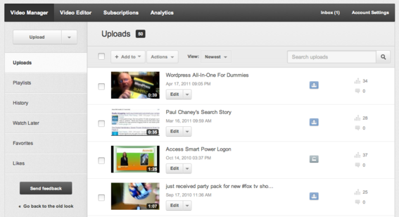 The new Video Manager is a self-contained dashboard for uploading and organizing videos.