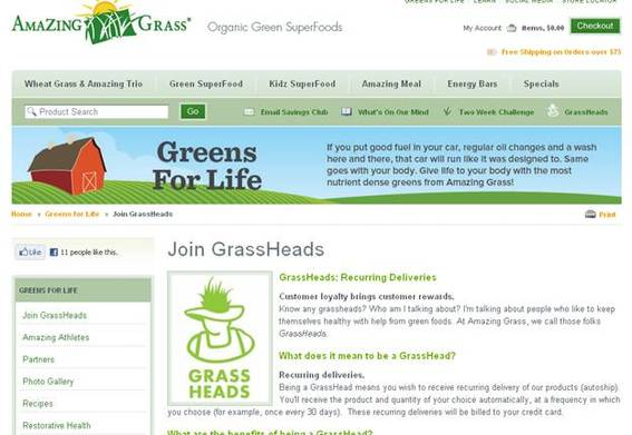 The GrassHead auto-ship program offers additional benefits to members.