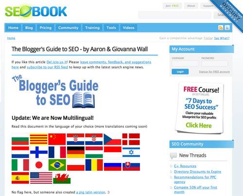 """The Blogger's Guide to SEO."""