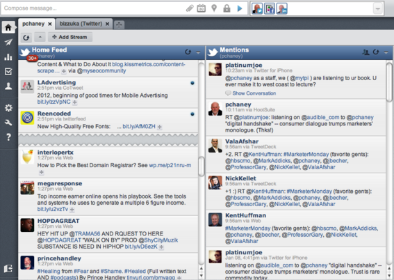 HootSuite's simple user interface makes posting easy.